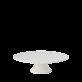 Porzellanplatte mit Fuss Ø 29,5 cm H 9 cm