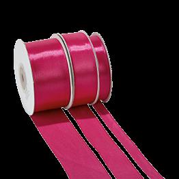 Seidenband fuchsia – Breite: 12 mm – Rolle mit 25 m