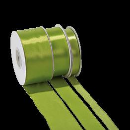 Seidenband Anisgrün – Breite: 12 mm – Rolle mit 25 m