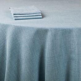 Tischtuch Leinen blau 290 x 290 cm