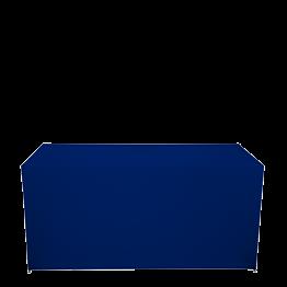 Buffet klappbar mit blauer Husse 3 Seiten abgedeckt
