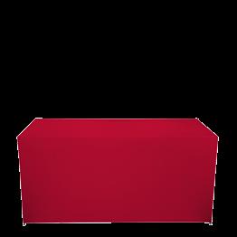 Buffet klappbar mit roter Husse 3 Seiten abgedeck