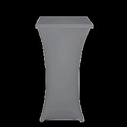 Stehtisch Stahl viereckig mit Husse grau 60 x 60 cm H 111 cm