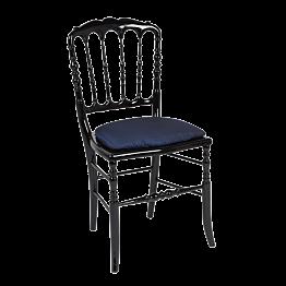 Stuhl Napoleon III schwarz Toscana nachtblau