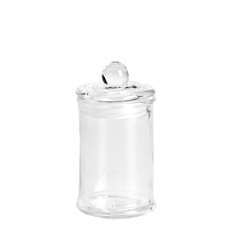 Bonbonniere aus Glas Ø 6 cm H 11 cm