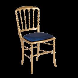 Stuhl Napoleon III golden Toscana nachtblau