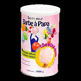 Rosa Zucker für Zuckerwatte, Kaugummiaroma 1 kg