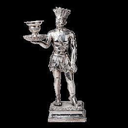 Kerzenständer Die Amerika Silber  H 31 cm - L 11,5 cm - P 12 cm
