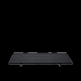 Tablett Iko schwarz matt auf Füssen 20 x 30cm H 2.8 cm