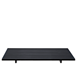 Tablett Iko schwarz matt auf Füssen 30 x 40cm H 2.8cm