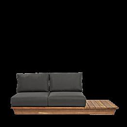 Sofa Teak Grey 76 x 204 cm H 70 cm
