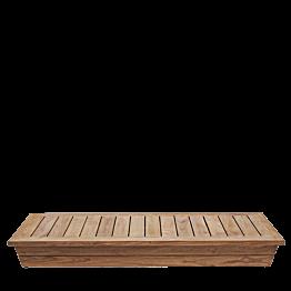 Tisch tief Teak 70 x140 cm H 16 cm