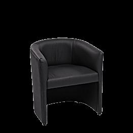 Sessel Sim schwarz 70 x 63 cm H 76 cm
