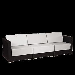Lounge Sofa drei Plätze Grau 240 x 80 x 67cm