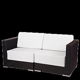 Lounge Sofa zwei Plätze Grau 160 x 80 x 67cm