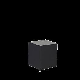 Tisch tief vinyl schwarz 40 x 40 H 40 cm
