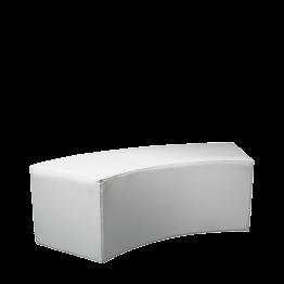 Kurve Lounge Sitzbank vinyl weiss 50 x 150cm H 40 cm