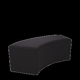 Kurve Lounge Sitzbank vinyl schwarz 50 x 150cm H 40cm