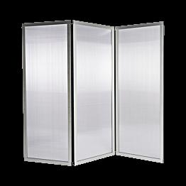 Paravent Plexi L 210 cm (70 cm x 3) H 186 cm