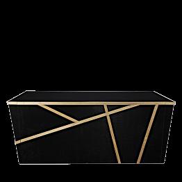 Buffet klappbar Sakiro schwarz 100 x 225 cm
