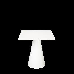 Tisch Icône weiss, 69 x 69 cm H 72 cm