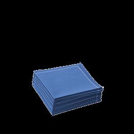 Klassische Serviette, blau, 2x gefalten 10 x 10 cm (30 stück)