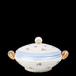Suppenschüssel Vintage geblümt