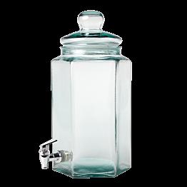 Vintage Glasflasche mit Ausschank  20 x 17,5 cm H 40 cm 6.6 L