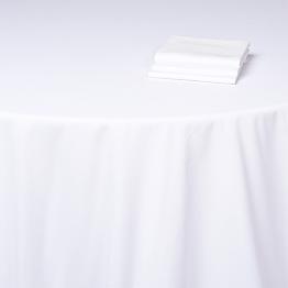 Tischtuch Baumwolle weiss Alaska 310 x 310 cm