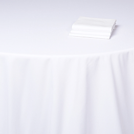 Serviette Baumwolle weiss Alaska 50 x 50 cm