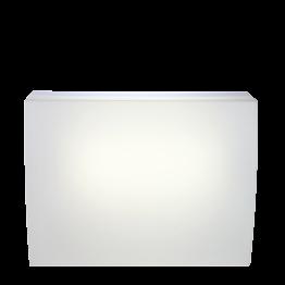 Leucht-Bar Igloo gerades Modul, ausgestattet 140 x 75 cm H 108 cm