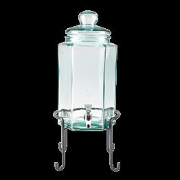 Vintage Glasflasche 20 x 17,5 cm H 40 cm 6,6 L auf Ständer