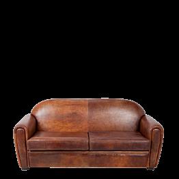 Sofa zwei Plätze Club Leader braun 190 x 83 cm H 97 cm