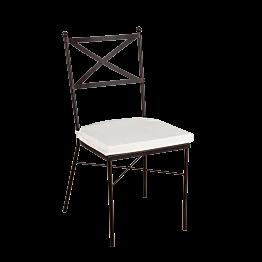 Stuhl Toscane mit cremefarbenem Sitzkissen