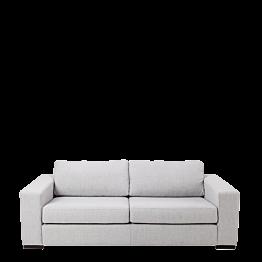 Sofa zwei Plätze Loft grau 196 x 80 cm H 73 cm