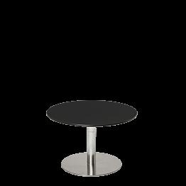 Tiefer Tisch Hobby schwarz Ø 60 cm H 40 cm