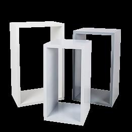 Stehtisch Gigognes weiss und grau (3er Set) H115 - H105 - H 95 cm