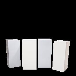 Stehtisch Cube weiss und grau (4er set)