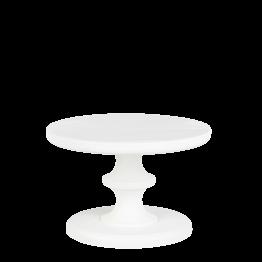 Kleiner Präsentierständer Weiss Pop's Ø 15 cm H 10,5 cm