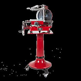 Schneidmaschine manuell Retro rot auf Fuss H 155 cm