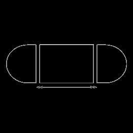 Tisch oval 130 x 700 cm