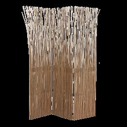 Paravent aus naturfarbenem 3 Blättrig L 120 cm (40x3) H 170 cm