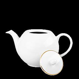 Teekanne weiss goldenes Netz 170 cl