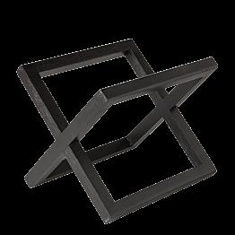 Buffeterhöhung Holz schwarz 20 x 20 cm H 17,5 cm