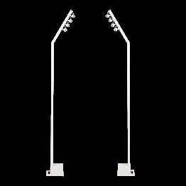 Stehlampen 2-er Set in viele Richtungen anpassbar weiss H 230 cm