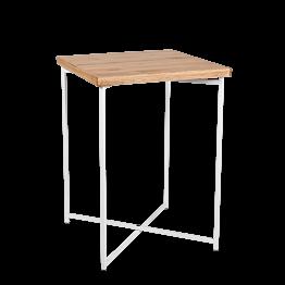 Stehtisch Kreuzgestell weiss Platte Holz 65 x 65 cm H 90 cm