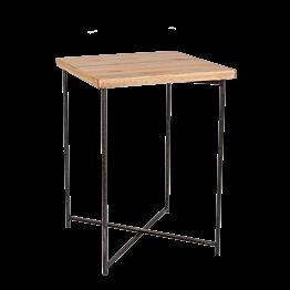 Stehtisch Kreuzgestell Stahl Platte Holz 65 x 65 cm H 90 cm