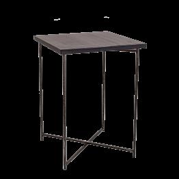 Stehtisch Kreuzgestell Stahl Platte schwarz 65 x 65 cm H 90 cm