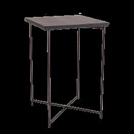Stehtisch Kreuzgestell Stahl Platte schwarz 65 x 65 cm H 100 cm