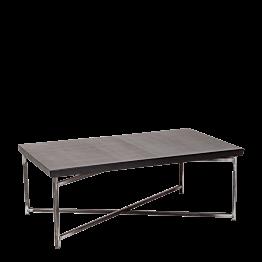 Tisch tief Kreuzgestell schwarz Stahlplatte 64 x 101 cm H 35 cm